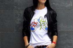 "t-shirt ""KOLOROWE TRAMPKI"" klasyczny"