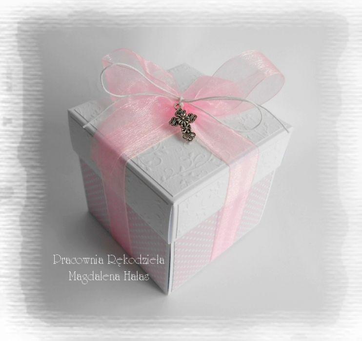 Exploding box róż z aniołkiem #2