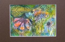 Kolorowy rysunek kwiaty - Tajemniczy ogród
