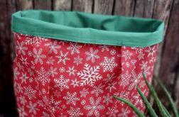 Eko,torba damska na zakupy,śnieżynki