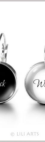 "Kolczyki ""Black & White"""