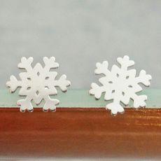Kolczyki Śnieżynki Srebro 925