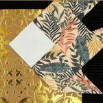 Obrazek origami wiszący drewniana ramka Ryby - Zbliżenie2
