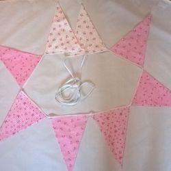 Girlanda różowo-biała
