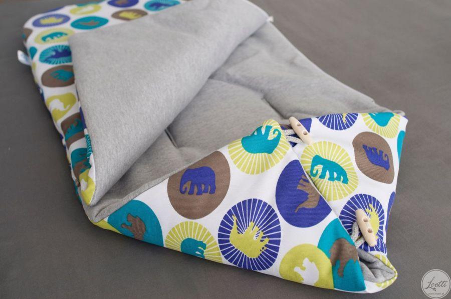 Zimowy WODOODPORNY śpiworek w słonie