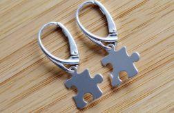 Kolczyki puzzel srebro 925