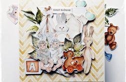 Bliźniaki - kartka z okazji narodzin