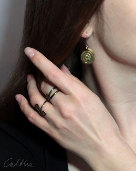 Zawijas - mosiężny pierścionek 210305-02 - Słowiańska biżuteria