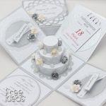 Pudełeczko dla Młodej Pary EBS19016 - z tortem