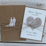 Stylowy zestaw kartka pudełko rustyk serca