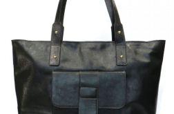 Skórzana torba XXl ciemnozielona