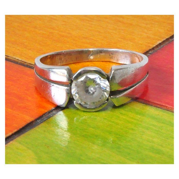 54 pierścionek vintage z cyrkonią