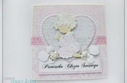 Kartka z aniołkiem na Chrzest