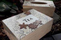 Zestaw chustecznik i herbaciarka
