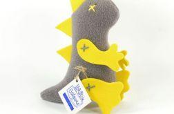 Mini dinozaur szaro-żółty