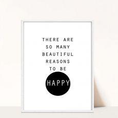 Plakat z hasłem Happy