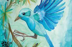 Jungle bird wydruk ilustracji