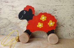 Drewniany baranek / owieczka, wielobarwny