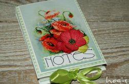 Hogisowy notesik z makiem