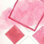 Obrazek/plakat geometryczny różowy + RAMKA