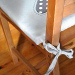 4 siedziska - szare serduszka