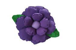 Poduszka ozdobna kwiat ciemny fiolet