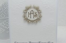 Zaproszenie na I Komunię Św-hostia