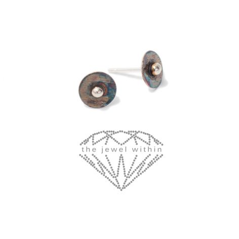 Kolczyki oksydowane 0,8 cm