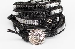 Bransoleta Boho Black and White