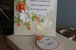 Kartka ślubna z cytatem