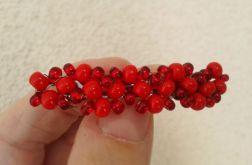 Spinka do włosów Czerwone koraliki