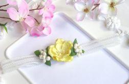 Nomma Opaska niemowlęca CHRZEST kwiatki 007