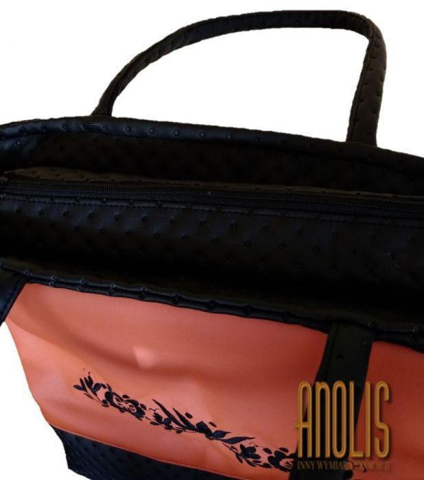 Ruda torba z haftem