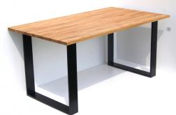 Stół jadalniany stal i dąb LOFT CLOSE