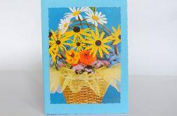 Niebieska kartka z bukietem 2