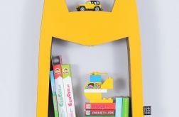 Półka na książki zabawki HERO | żółty