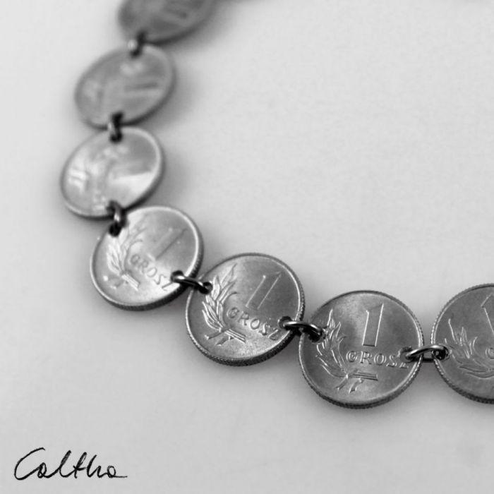 Grosiki - naszyjnik 3 - Biżuteria z monet