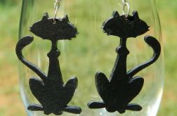 Kolczyki czarne koty, kotki