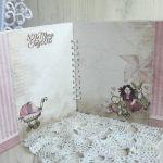 Album Vintage dla dziewczynki chrzest, roczek