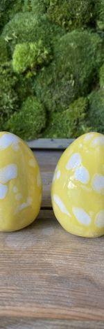 Jajko ceramiczne żółto-białe