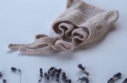 czapeczka bonetka bawełna/merino pudrowy róż
