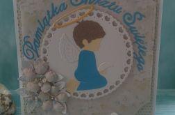 Urocza kartka na chrzest dla chłopca