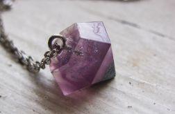 Naszyjnik z różowym diamentem, brokat