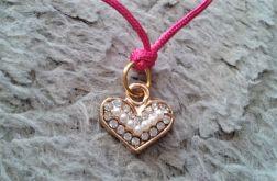 Bransoletka sznurkowa z sercem