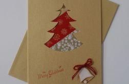 Kartka świąteczna Czerwona Choinka