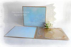 Folder na płytę, niebiesko brązowy