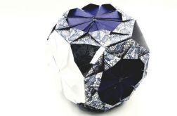 Bombka origami kusudama z papieru koronka