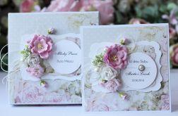 Kartka z pudełkiem - ślub kwiaty 3