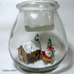 Świecznik z widokiem w środku(Mikołaj)