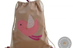 plecak worek do przedszkola z imieniem ptasz